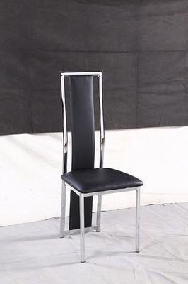 Chaise blanche et chrome noir et chrome a120b electro - Chaise blanche et noir ...