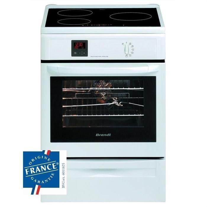Cuisinière induction Brandt Brandt KIP711W : electro-discount