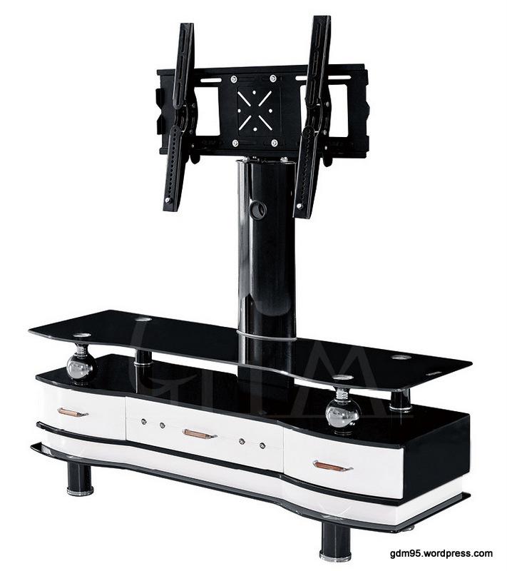 Meuble tv blanc et noir laque maison design for Meuble noir et blanc