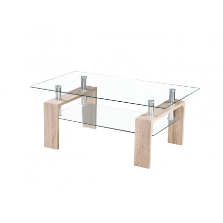 Table basse h tre plateau verre tremp electro vente lectrom - Plateau de table en verre trempe ...