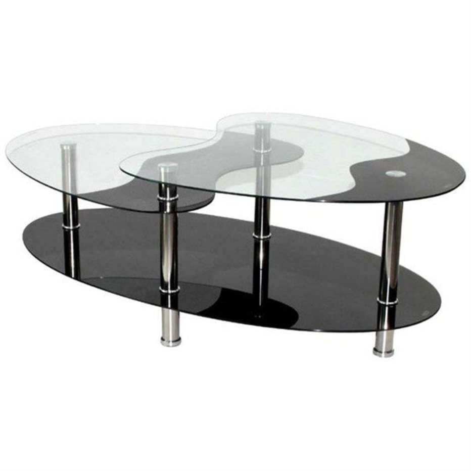 Table basse noire ct39 electro discount - Table basse en verre noir ...