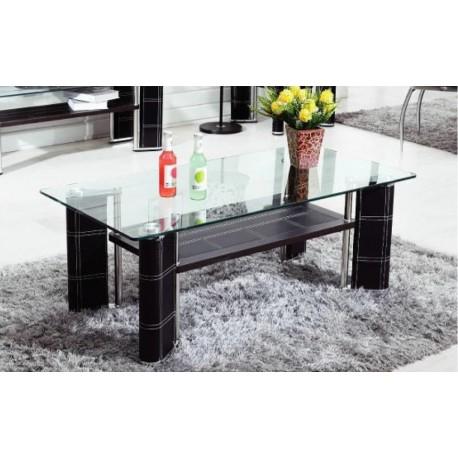 Table basse noire et verre electro discount - Table basse discount ...