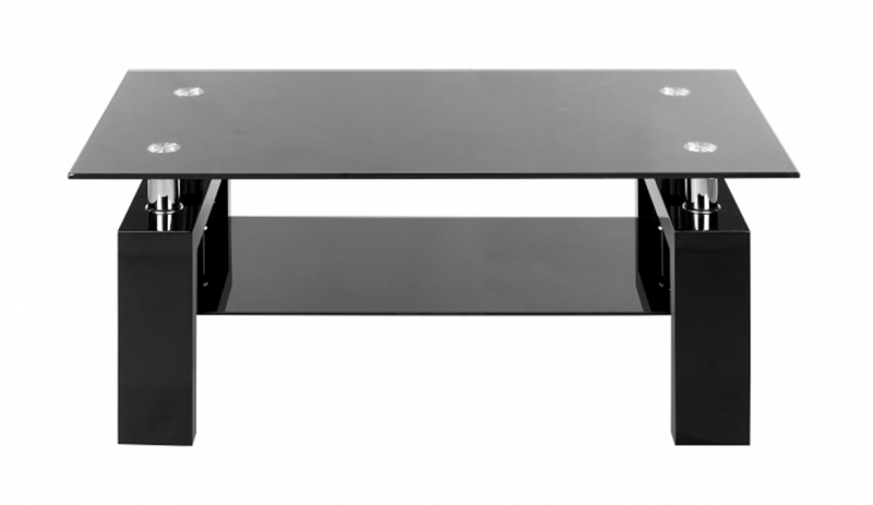 table basse en verre noir ct37 electro discount. Black Bedroom Furniture Sets. Home Design Ideas