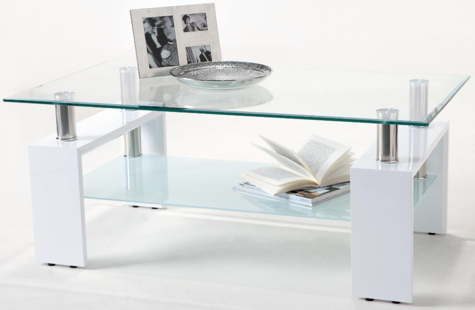 Table Basse Blanche Verre.Table Basse Verre Laque Blanc